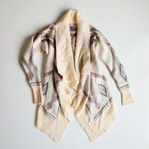 Roxy Boho Knit Sweater Cardigan Chunky S